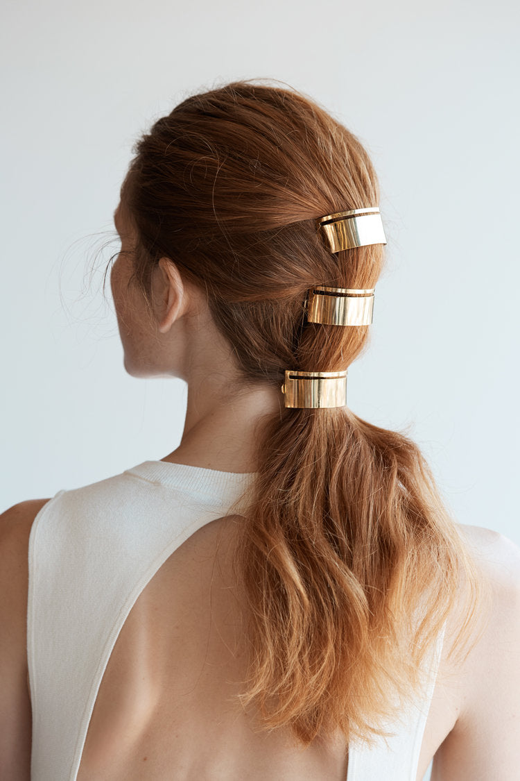 Slit Metal Pony Barrette