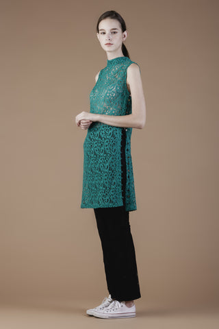 Lace Oriental Shift Dress #03D