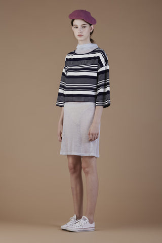 Stripe jersey top #34