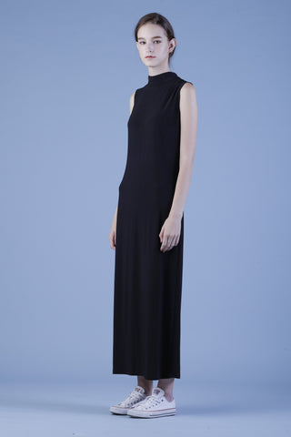Jersey Mock Turtleneck Maxi Dress #03b