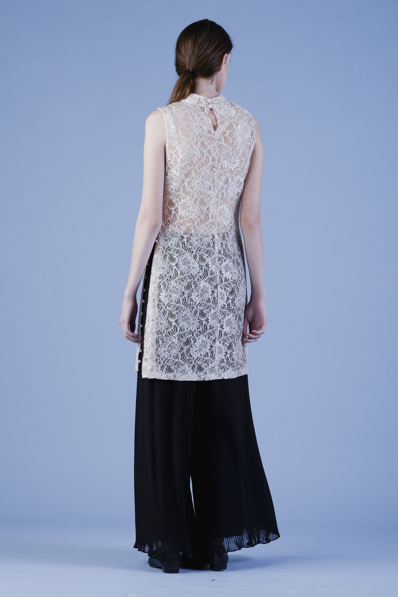 Mock Turtleneck Lace dress #03D
