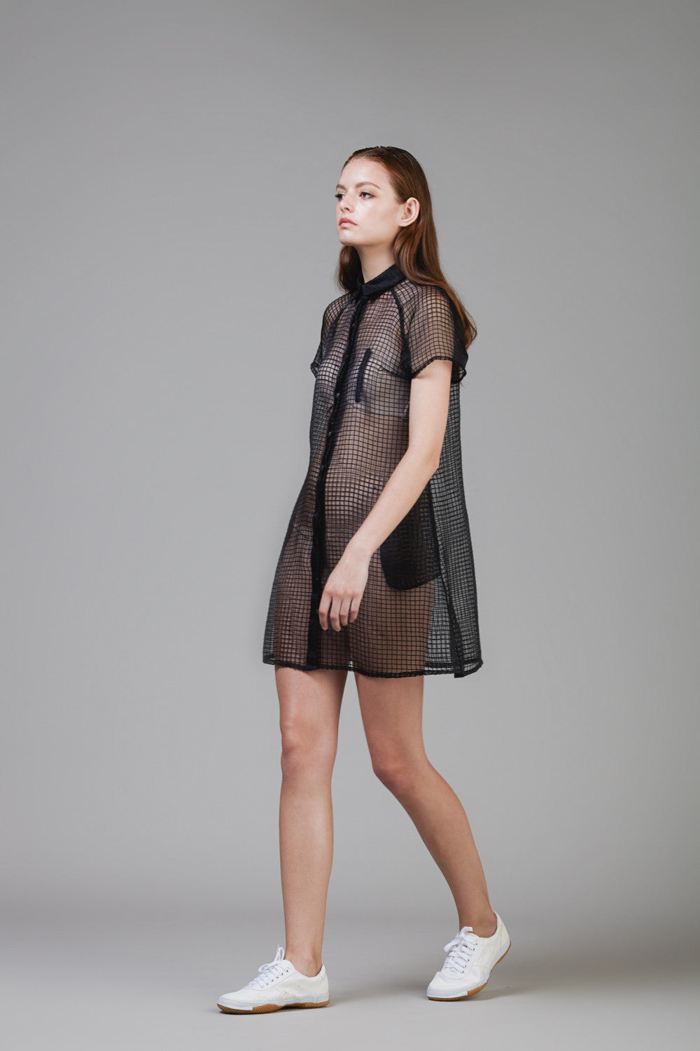 Jacquard Linen Organza Shirt Dress #43