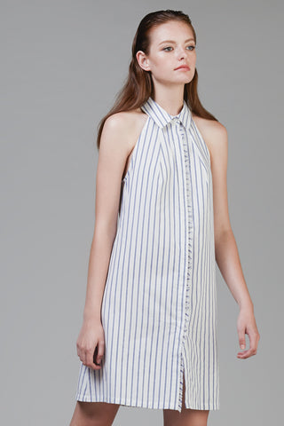 Sleeveless Pinstripe Shirtdress #45