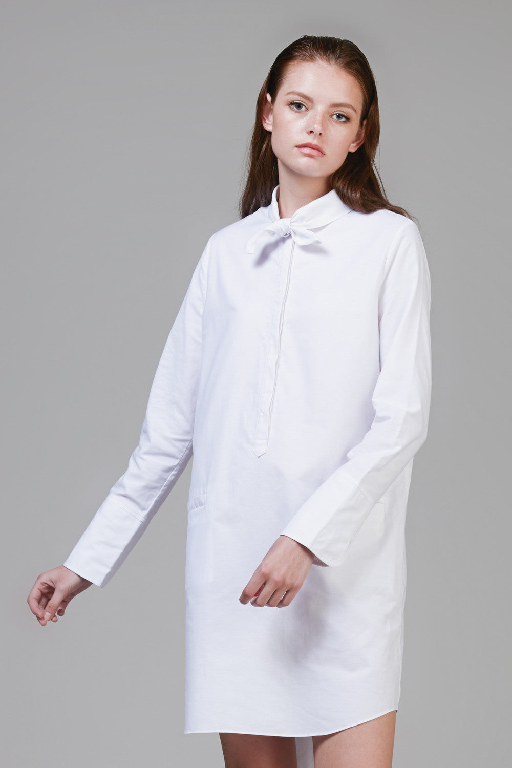 Tiedneck Oxford Shirtdress #60