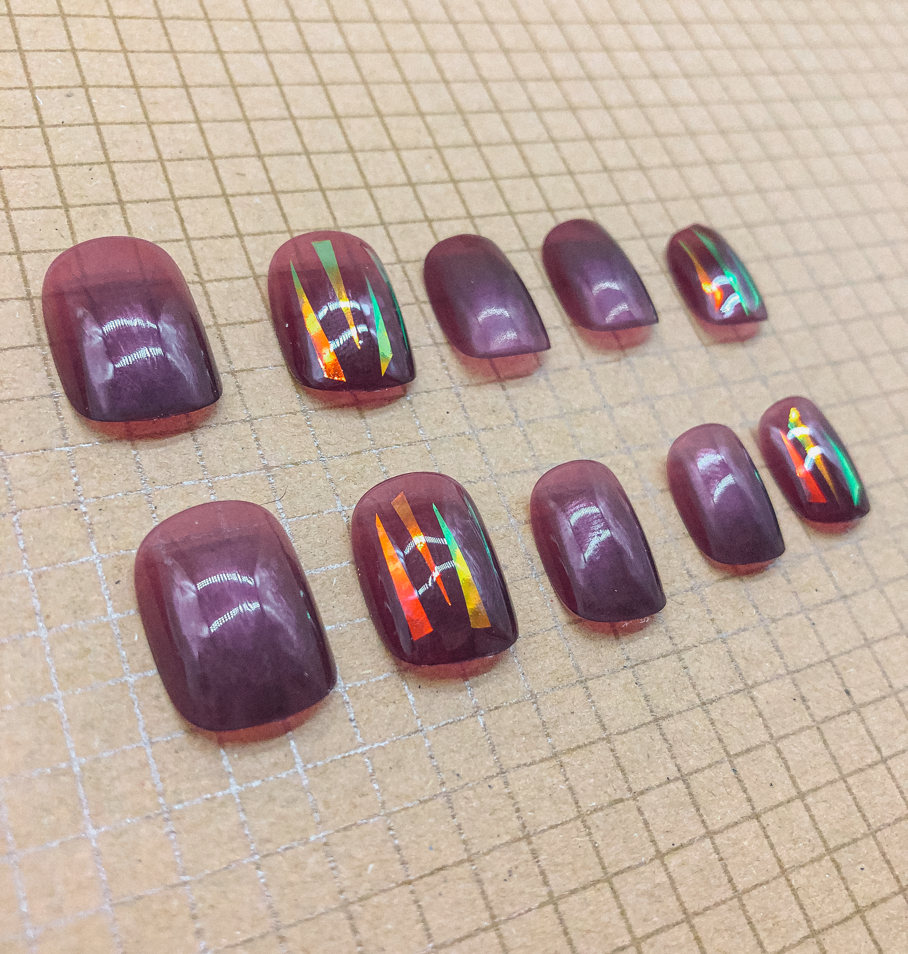 Deep Purple Press On Nails (Custom) by Veronique