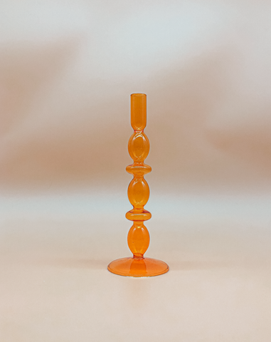 Vintage Tangerine Candle Holder by PROSE Tabletop