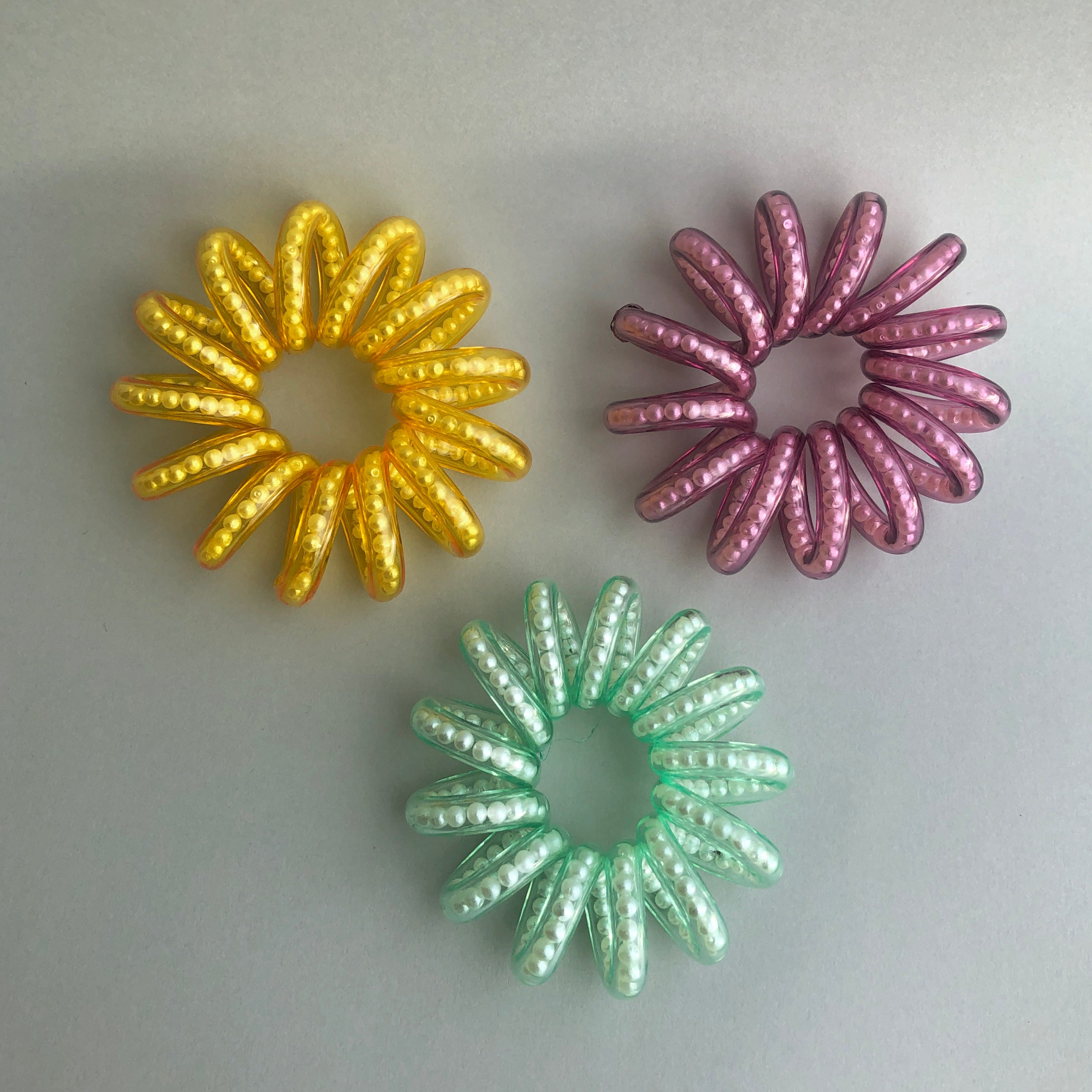 Beaded Phonecord Hairties by Veronique
