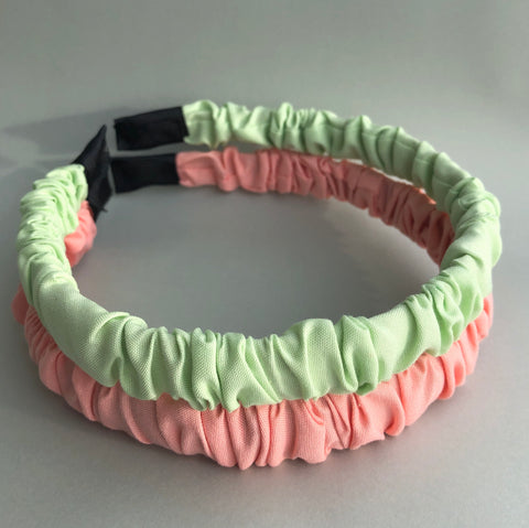 Ruched Cotton Headbands by Veronique