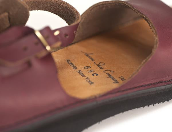 Aurora Shoe Co. - Women's West Indian (Burgundy)