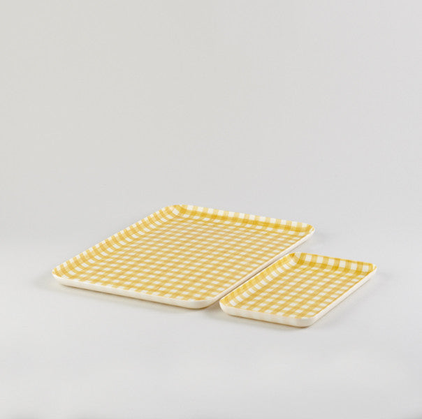 Yellow Rectangle Linen Tray