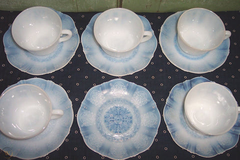 White Depression Glass Tea Set by PROSE Tabletop