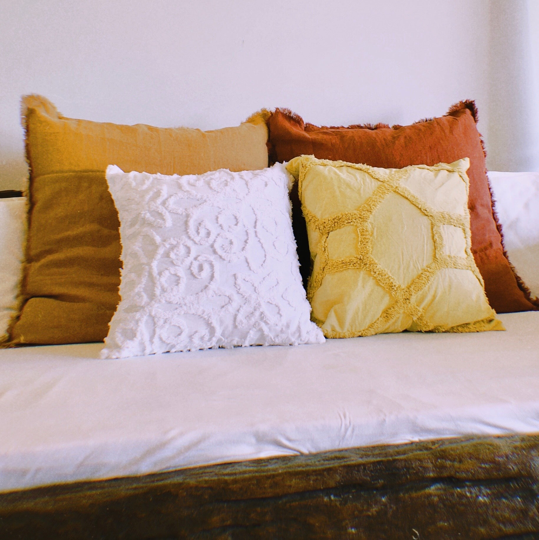 Frayed French Linen Cushion Cover by PROSE Décor