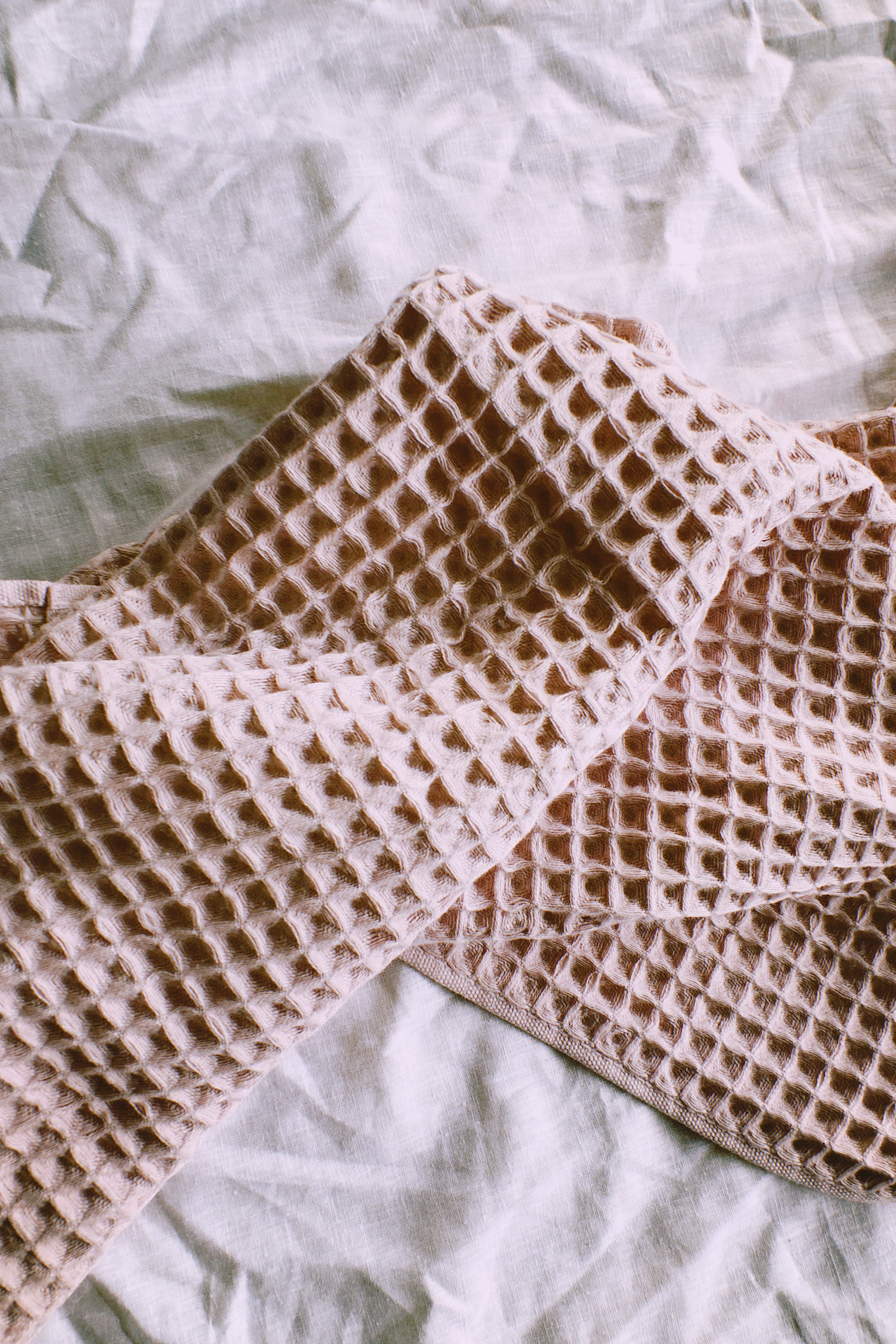 Waffle Bath Towel in Blush by PROSE Décor