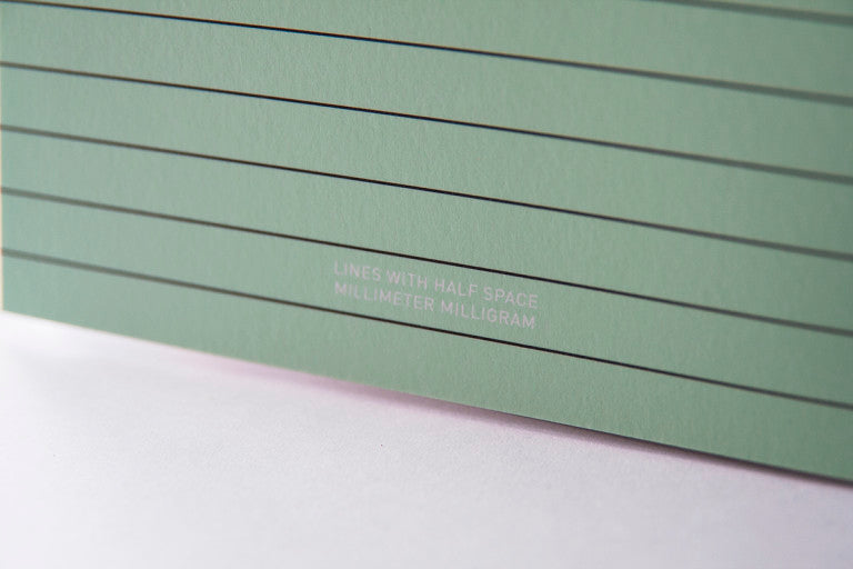 Lines notebook - Mint