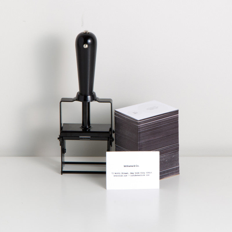 Self-Inking Rubber Stamp Black Matte + Black