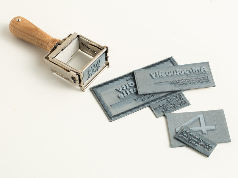 Self-Inking Rubber Stamp Natural Ash + Nickel