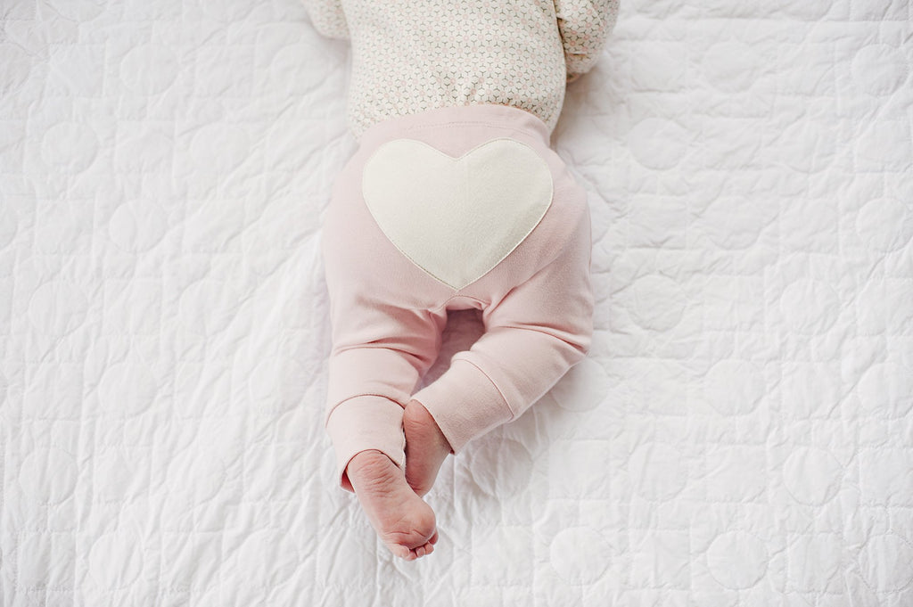 Organic Baby Heart Pants - Sapling Child