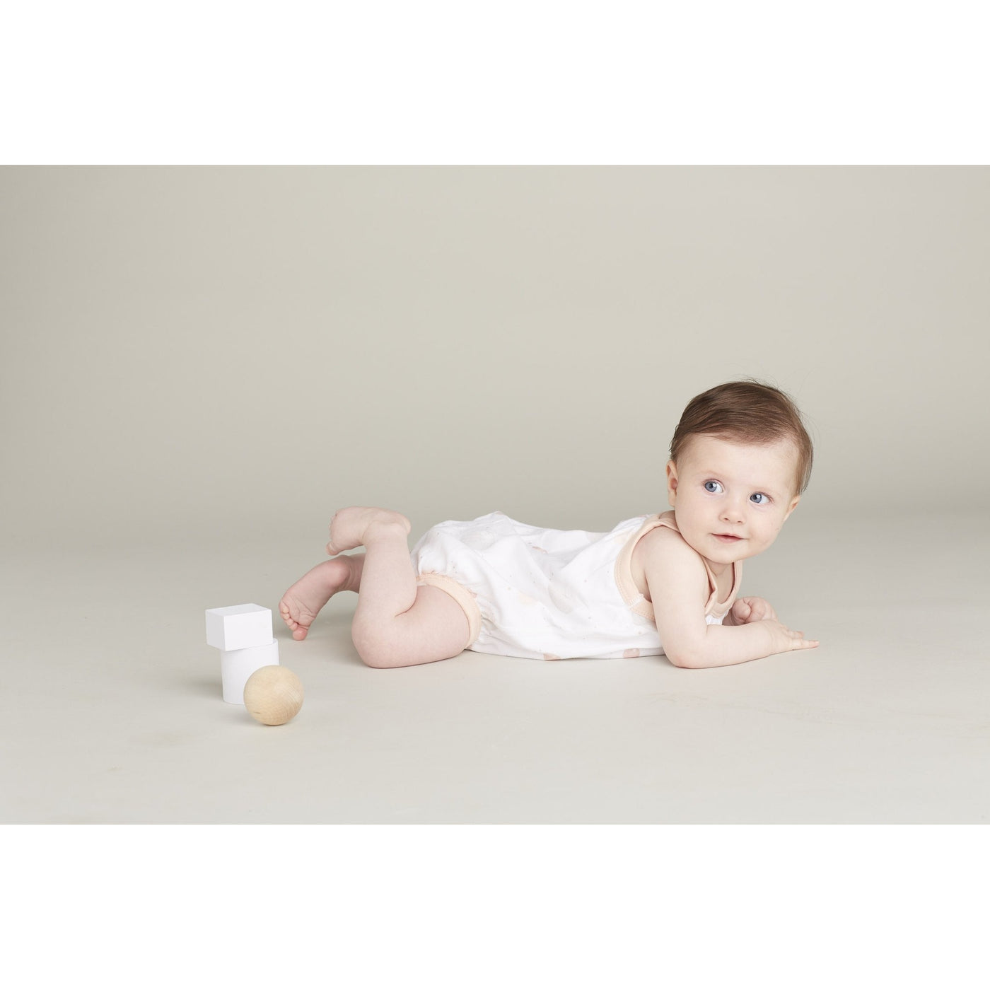 Blushing Orbit Bubble Suit - Sapling Organic Baby Clothes