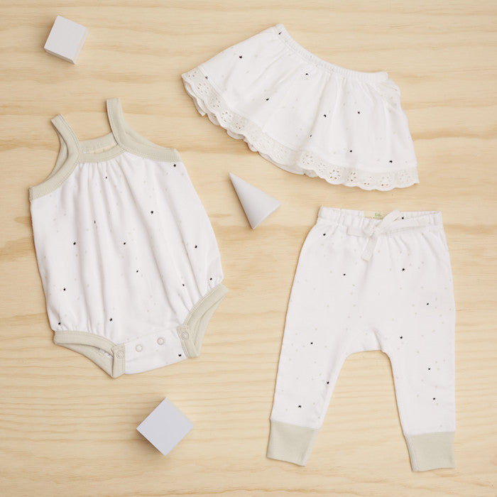 Twinkle Twinkle Skirt Bloomers - Sapling Organic Baby Clothes