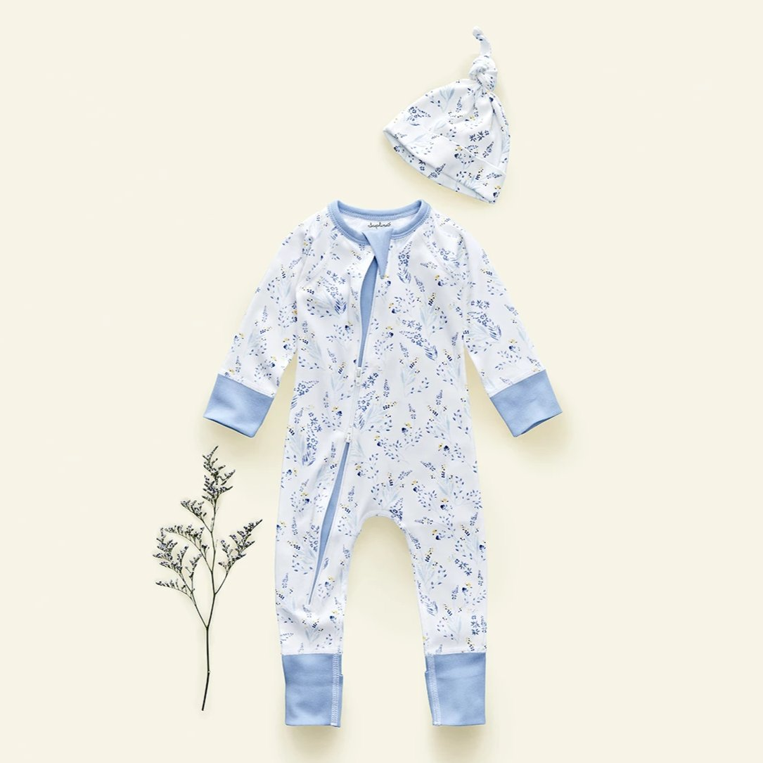 Meadow Zip Romper - Sapling Organic Baby Clothes