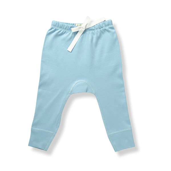 Unisex Blue Pants - NO HEART - Sapling Organic Baby Clothes