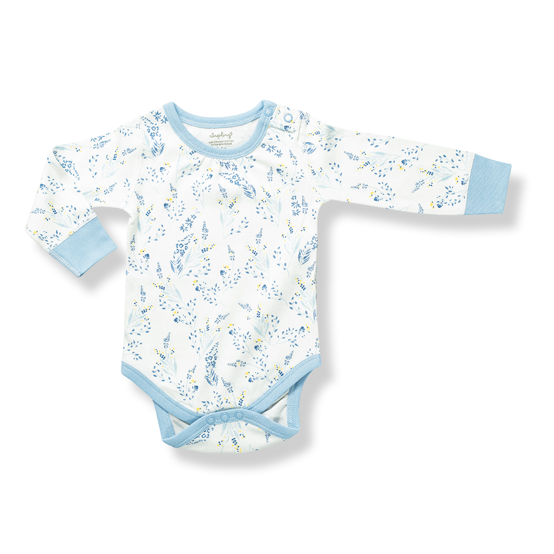 Meadow Long Sleeve Bodysuit - Sapling Organic Baby Clothes