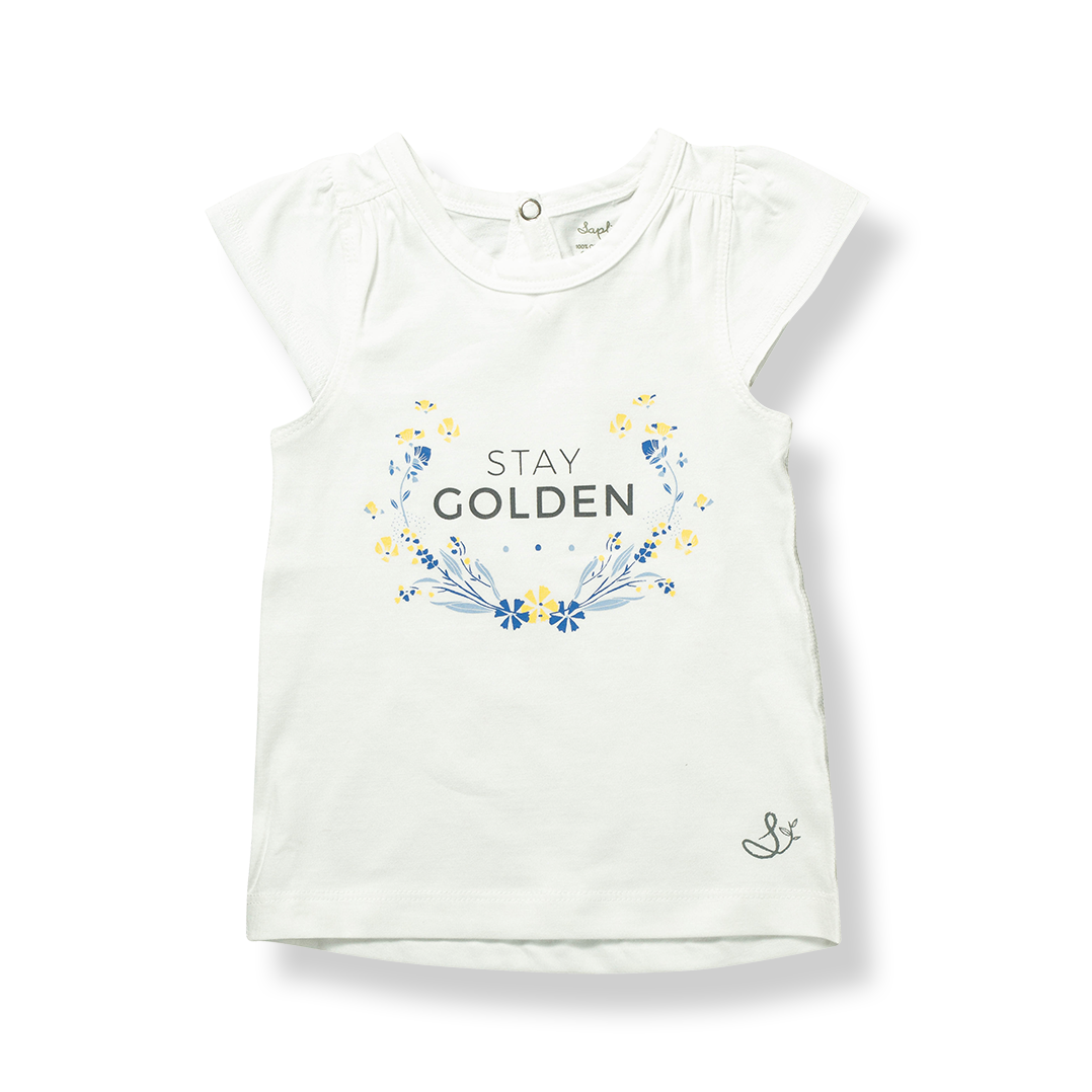 Stay Golden Flutter Sleeve Tee - Sapling Organic Baby Clothes