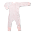 Pink Stripe Zip Romper - Sapling Organic Baby Clothes