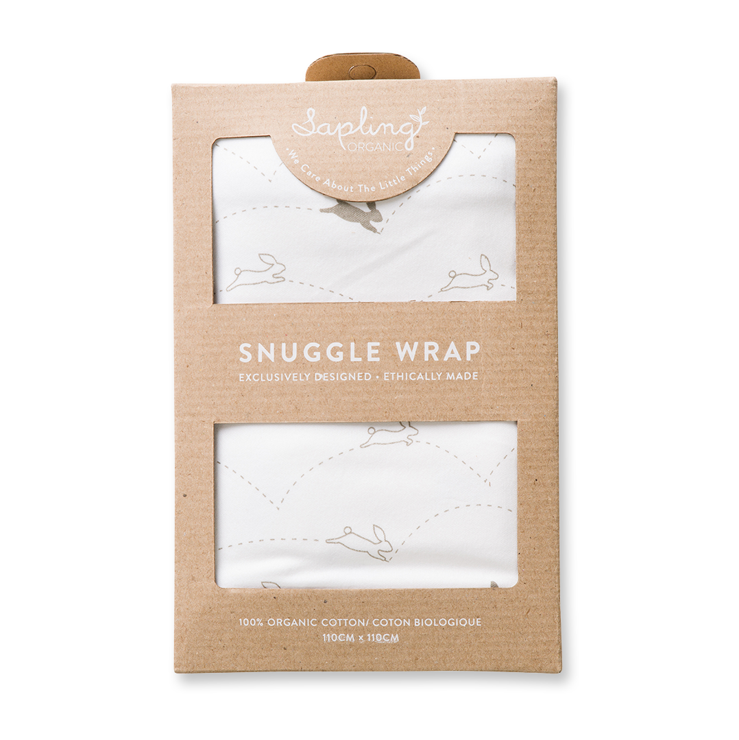 Bunny Snuggle Wrap - Sapling Organic Baby Clothes