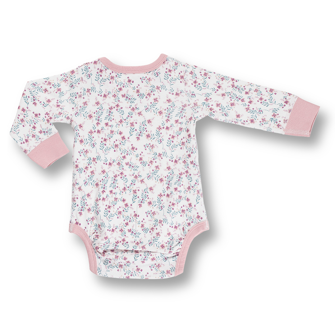Full Bloom Long Sleeve Bodysuit - Sapling Organic Baby Clothes