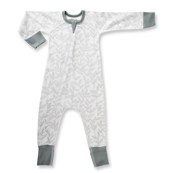 Laurel Leaf Zip Romper - Sapling Child