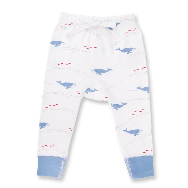 Whale Pants - Sapling Organic Baby Clothes