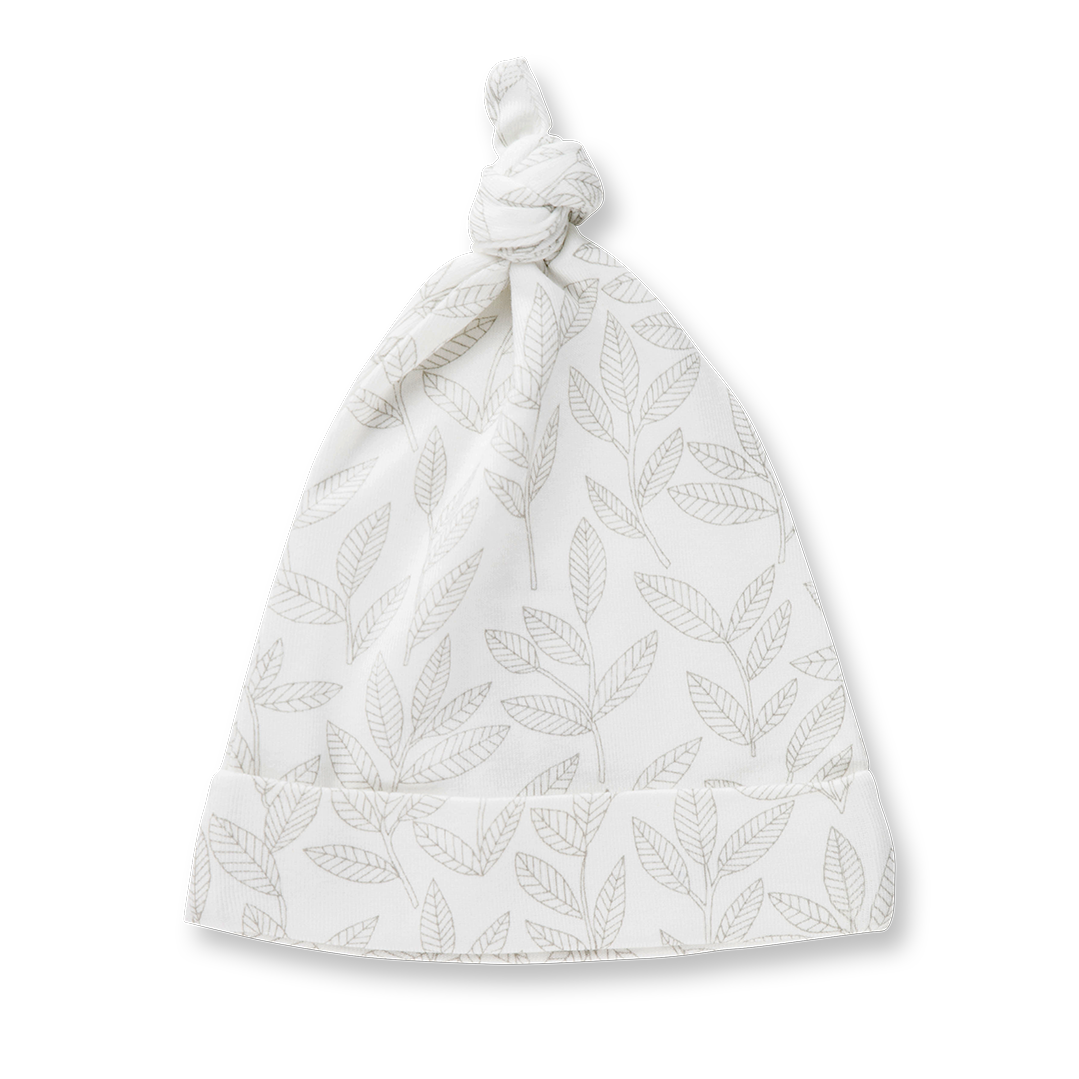 Laurel Leaf Knotted Hat - Sapling Organic Baby Clothes