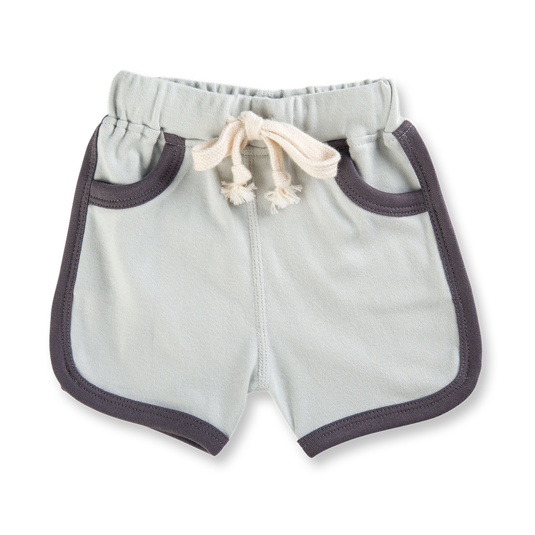 Dark Grey Shorts - Sapling Organic Baby Clothes