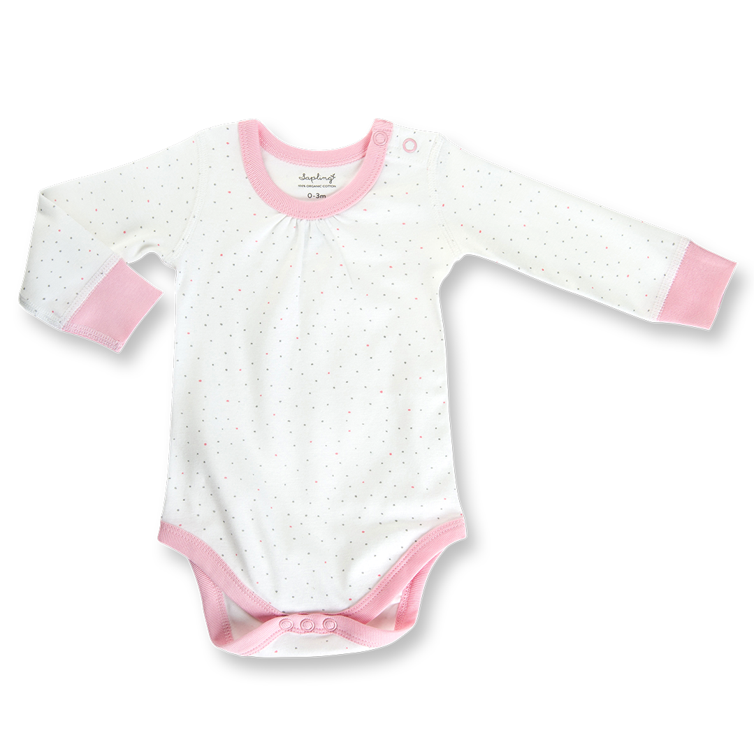 Kibble Kitten Long Sleeve Bodysuit - Sapling Organic Baby Clothes