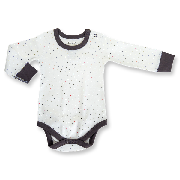 Kibble Puppy Long Sleeve Bodysuit - Sapling Organic Baby Clothes