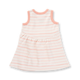 Peach French Stripe Dress - Sapling Organic Baby Clothes