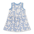 Cornflower Blue Bees Dress - Sapling Organic Baby Clothes