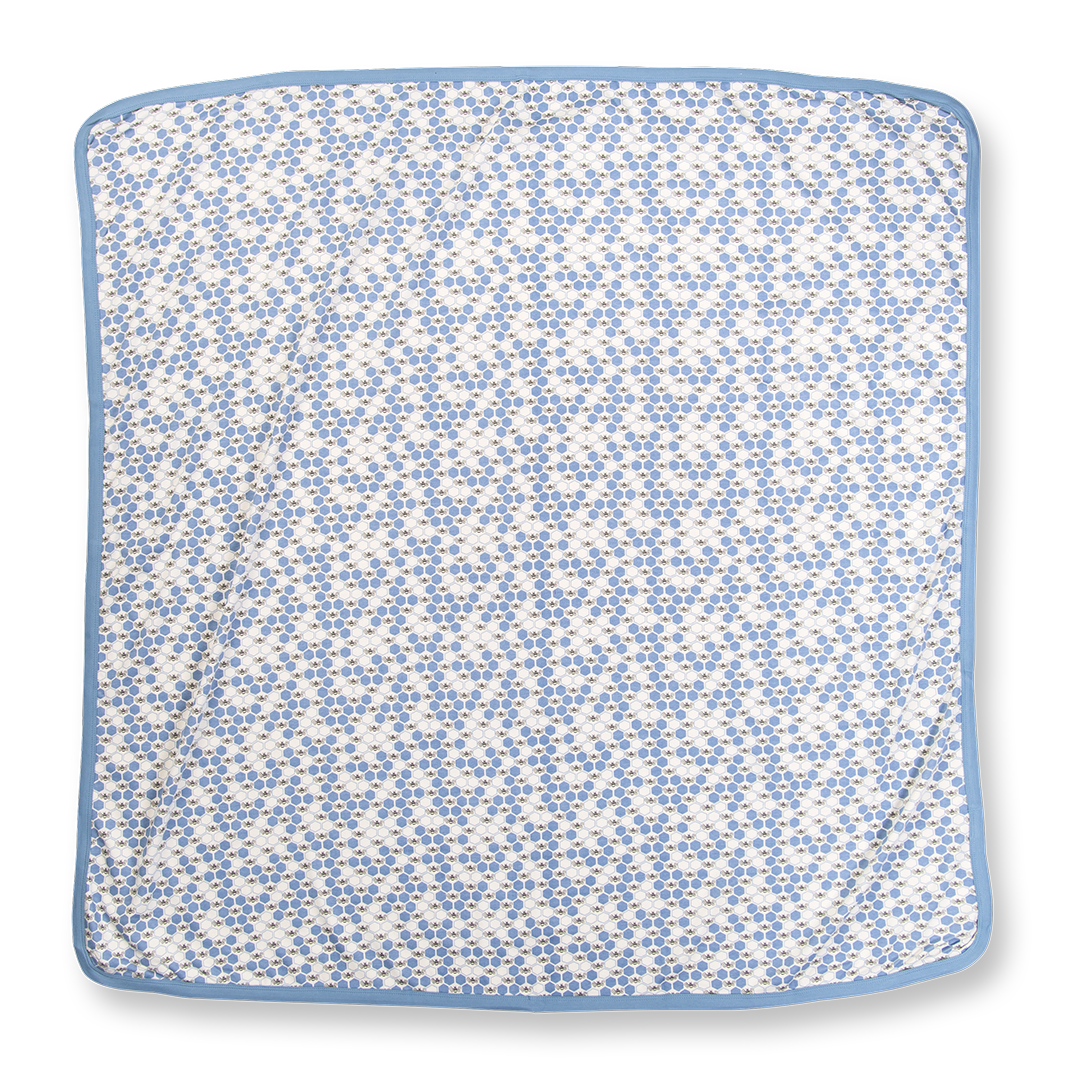 Cornflower Blue Bees Snuggle Wrap - Sapling Child
