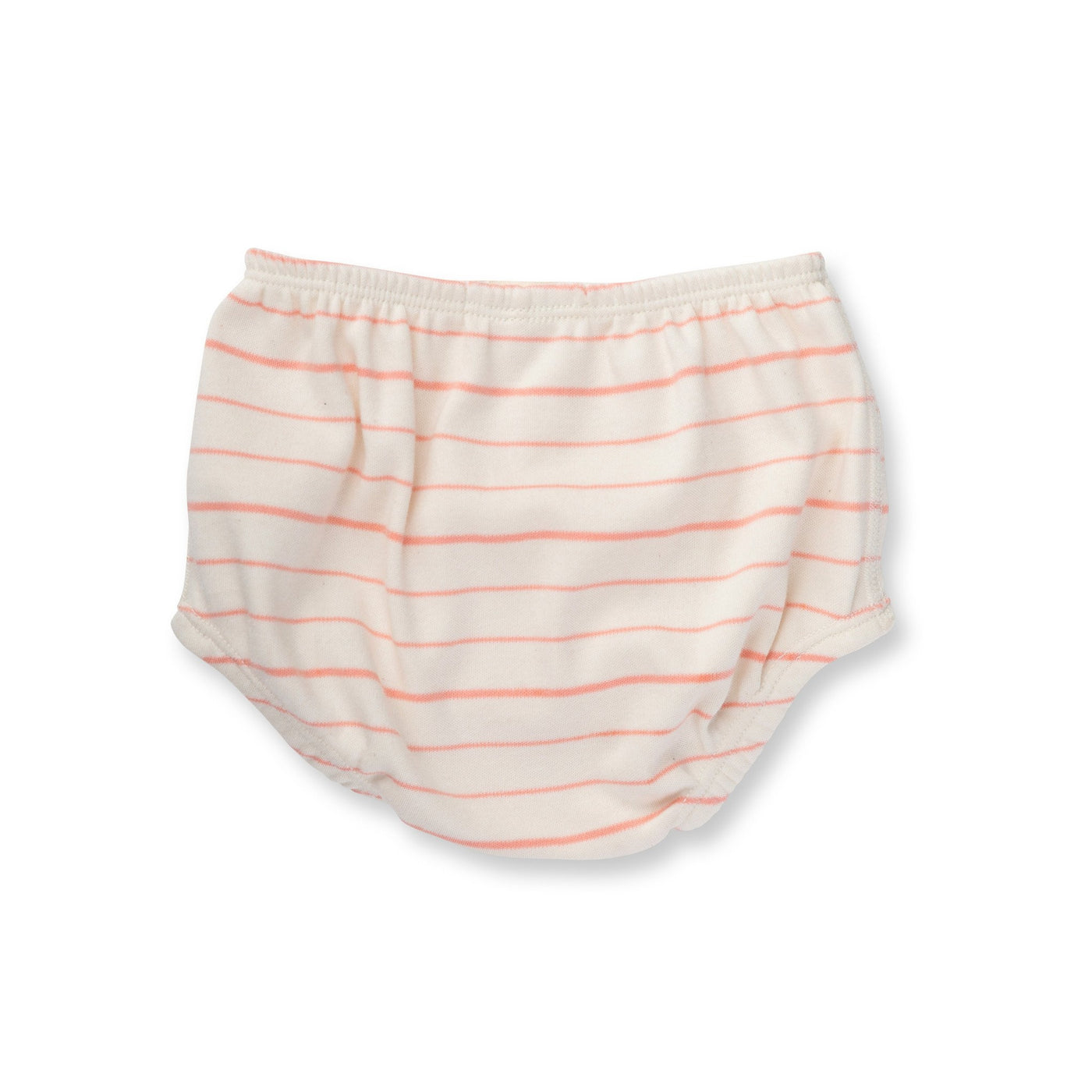 Peach French Stripe Bloomers - Sapling Organic Baby Clothes