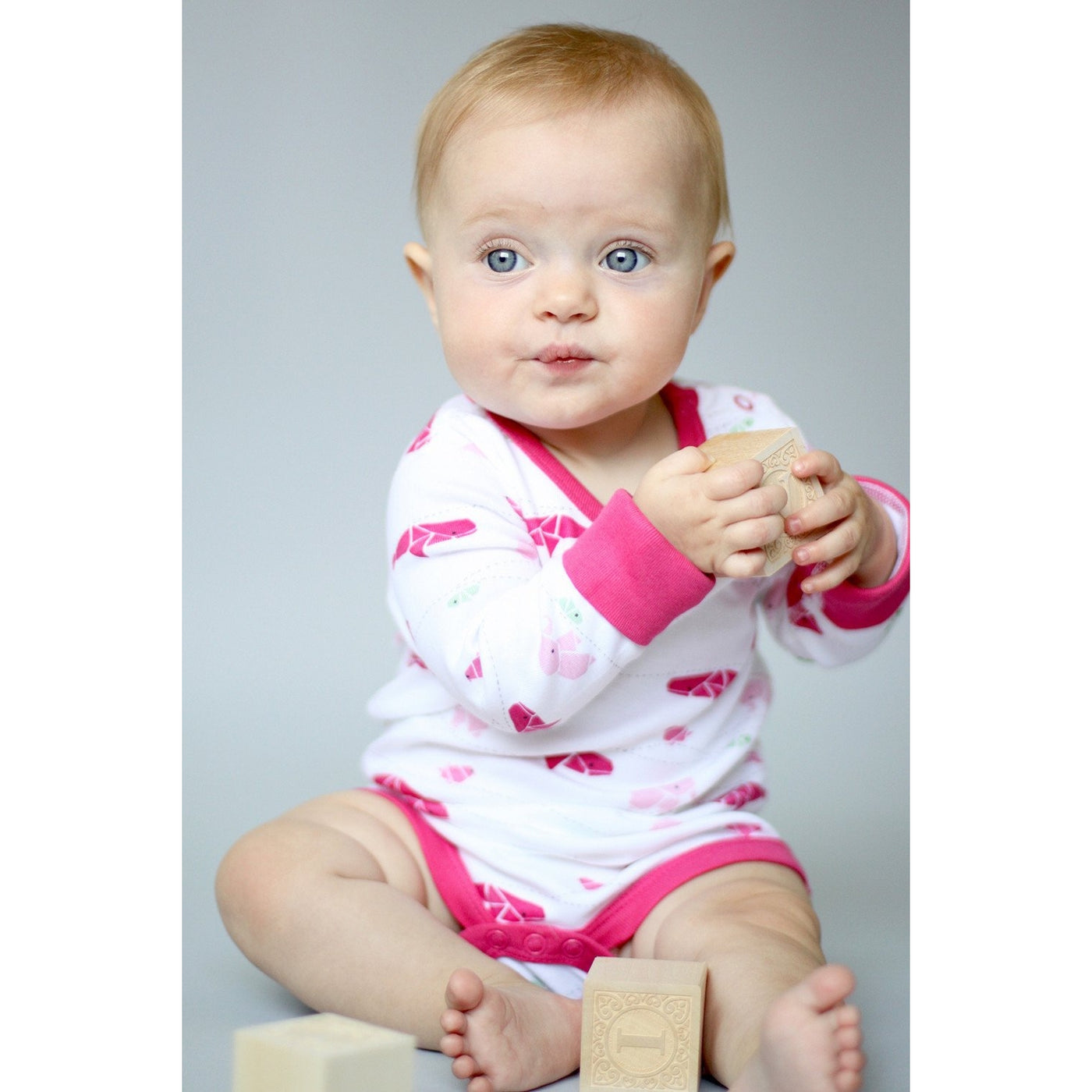 Raspberry Fizz Long Sleeve Bodysuit - Sapling Organic Baby Clothes