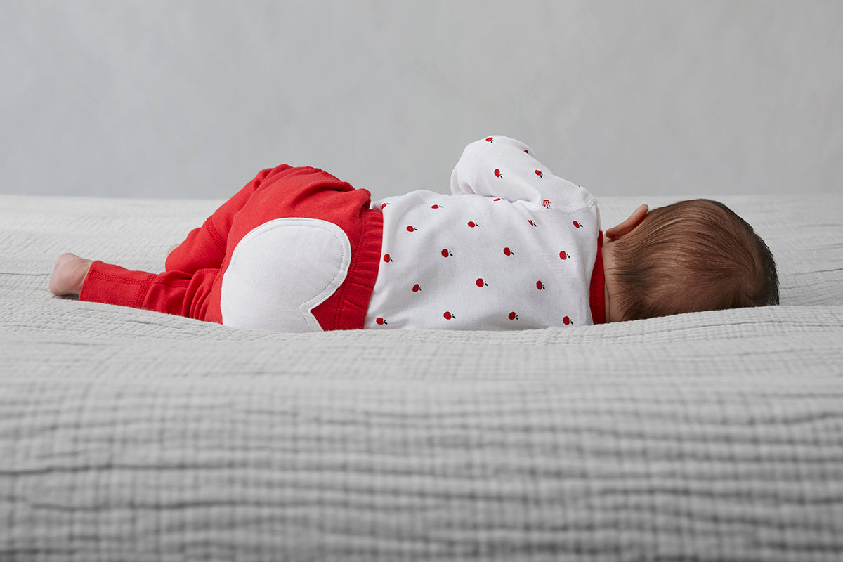 Apple Red Heart Pants - Sapling Organic Baby Clothes
