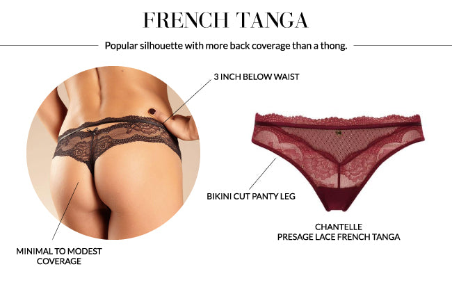 Chantelle presage lace french tanga