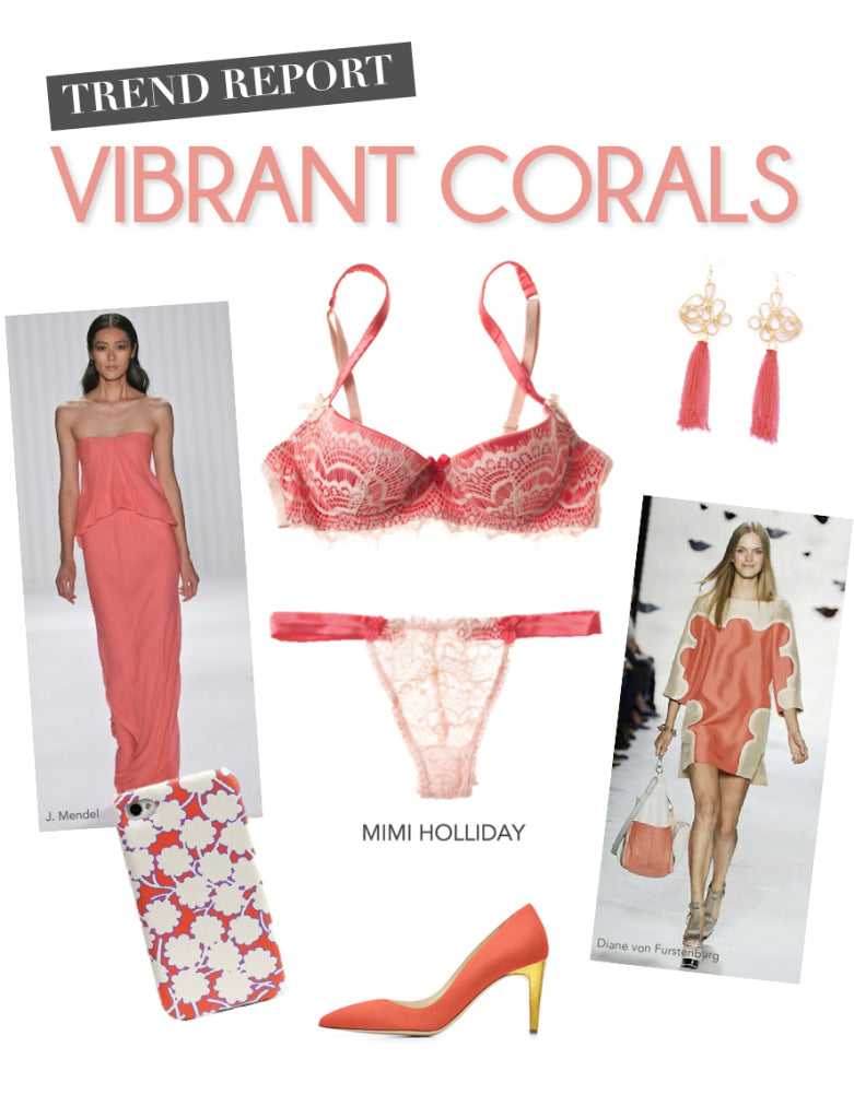 spring trends, coral, mimi holliday bra, coral trend, rupert sanderson, j. mendel dress coral, coral dress, coral shoes, coral earrings, spring color trend 2013, sheer blog, sheer.com.hk, sheer lingerie, sheer lingerie hong kong, sheer hong kong, designer lingerie, sexy lingerie, sheer blog hong kong, sheer hong kong, sheer blog, hong kong sheer, sheer boutique hk