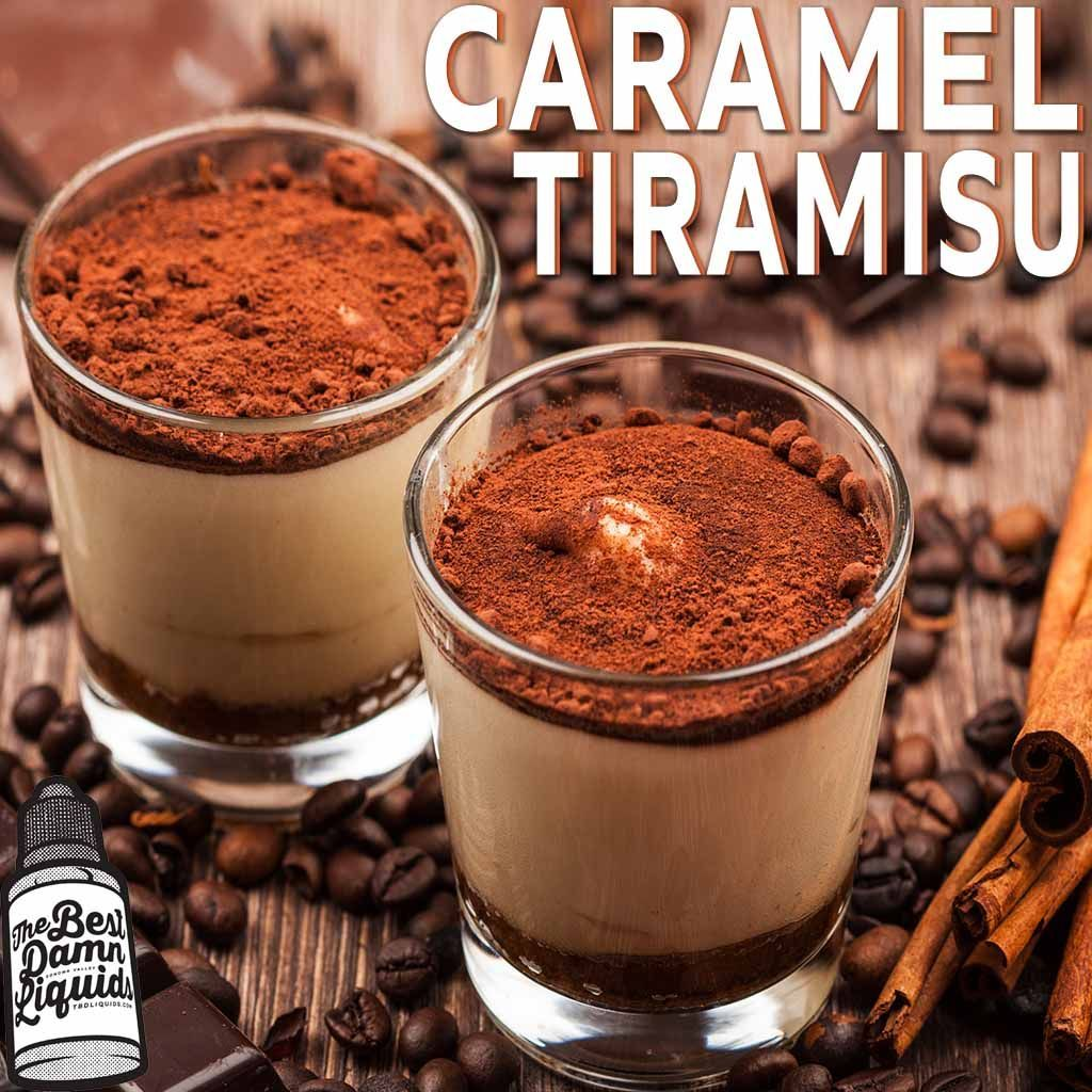 caramel tiramisu eliquid 30ml bottle