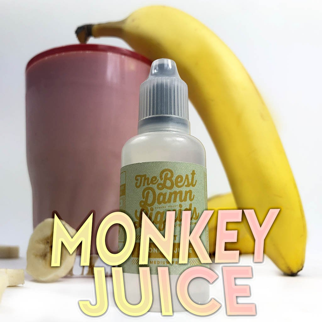 best uwell caliburn flavors - monkey juice banana strawberry milkshake