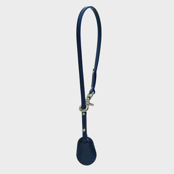 BETH Navy Leather Key Ring for Bag