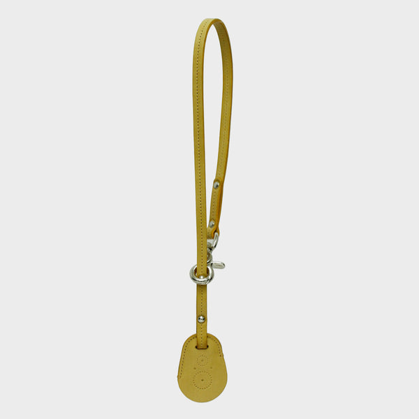BETH Mustard Leather Key Ring for Bag