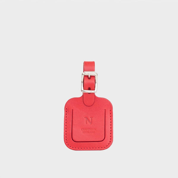 DEA Red Leather Luggage Tag