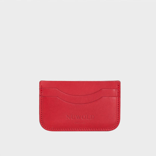 GAIL Red Leather Slim Multi Card Case